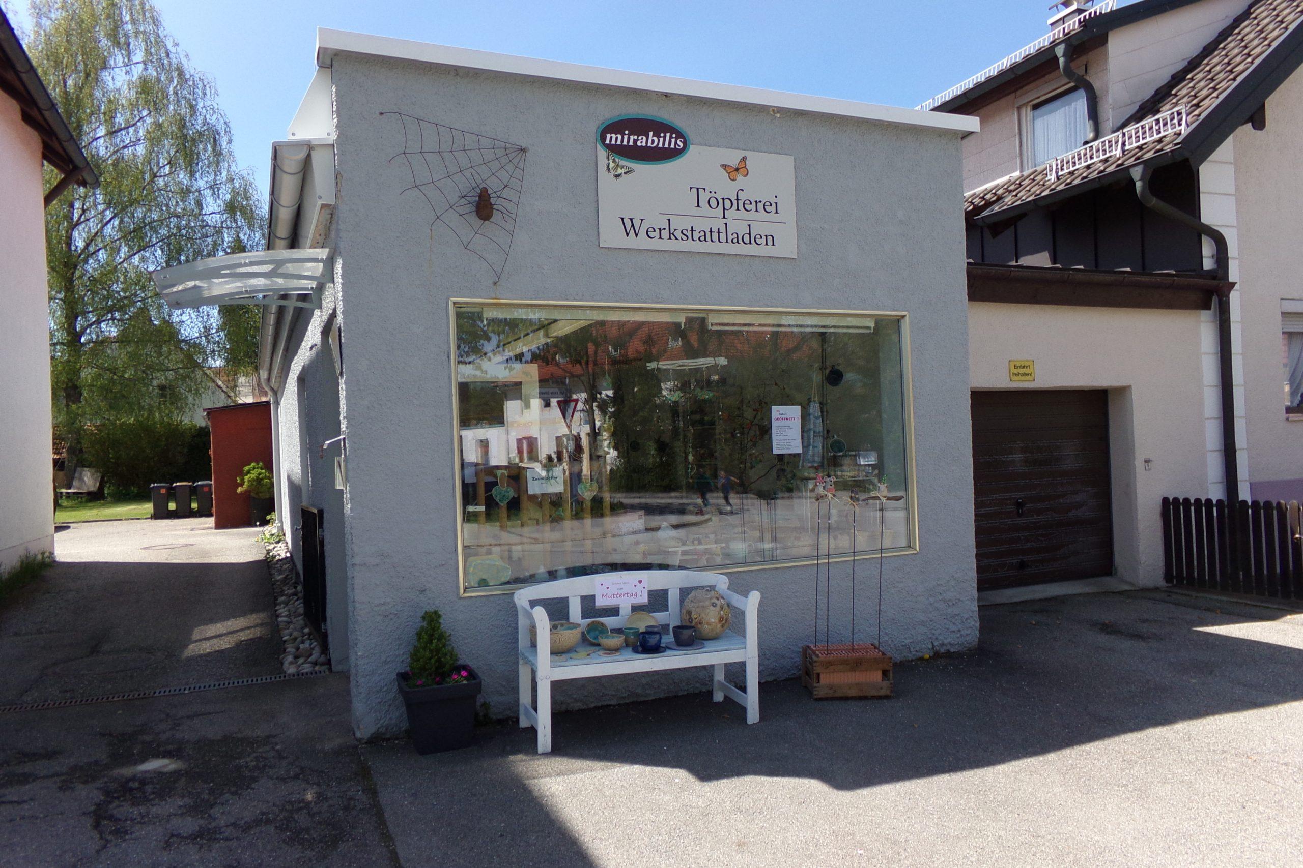 Ladengeschäft Töpferei mirabilis trostberg im Chiemgau